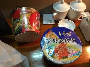 Dinner when we arrived in Dalian